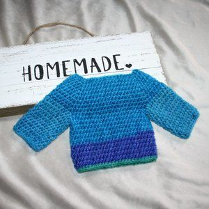Blue Nwot Baby Sweater Newborn